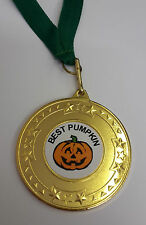 HALLOWEEN PUMPKIN MEDAL WITH RIBBON, FOR YOUR PUMPKIN CARVING COMPETITIONS!