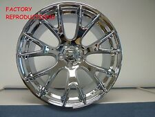 """4) 20"""" Staggered Hellcat Style Wheels Chrome Challenger 300C Charger Magnum RWD"""