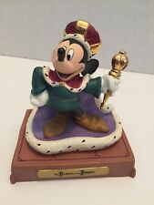 """WDCC THE PRINCE AND THE PAUPER MICKEY MOUSE """"LONG LIVE THE KING"""" 70TH birthday"""