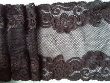 "Brown Lace Trim 6""/15cm Stretchy Trimming Lingerie Craft Sewing 2 Meters"