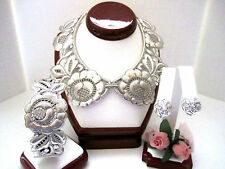 """Brighton """"VICTORIA"""" Collar Necklace-Earring-Bangle Bracelet (MSR$208) NWT/Pouch"""