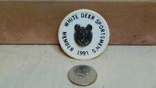 1991 White Deer Sportsmen'S Elemsport Pa Member Pin