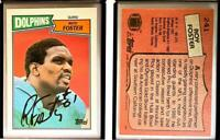 Roy Foster Signed 1987 Topps #241 Card Miami Dolphins Auto Autograph