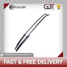 BLACK ROOF RAILS FOR LAND ROVER DISCOVERY SPORT 2014 ON PANORAMIC RAILS OE STYLE