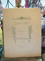 Partition Chanson d'Avril Piano Paul Wachs Music Sheet
