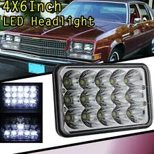 "4x6"" 75W H4 CREE LED Headlight Crystal Sealed Beam Lamp For Oldsmobile Plymouth"