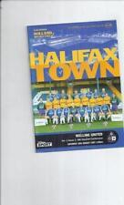 Halifax Town Football Non-League Fixture Programmes (1990s)