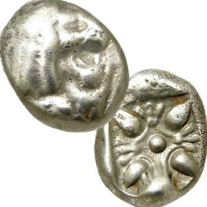 LION / Stellate 500 BC Ionia, Miletos. Authentic Ancient Greek Coin 12th Stater