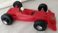 1960s VTG Red Race Car Ty Hong Kong 1088 Formular One Driver Indy Plastic Wheels