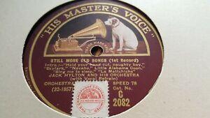 JACK HYLTON & HIS ORCHESTRA STILL MORE OLD SONGS HMV C2082