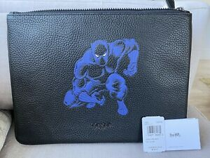 COACH x MARVEL Black Panther 1825 Leather Travel Pouch - LIMITED EDITION