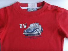 Sommer T-Shirt - rot mit Motiv - Marke - River Woods - Gr.92/24M-w.NEU!