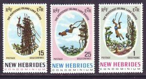New Hebrides British 1969 SC 135-137 MNH Set 3rd Pentecost Land Divers