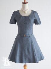 🌹ef-de🌹Wool One Piece Dress Gray Japanese Preppy style Lolita E840