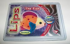 Ty S4 Rare Silver *Lips The Fish * Beanie Happy Birthday Card Insert #283