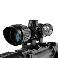 Rifle Scope Hunting Scope 3-9X32 AOL RGB Telescopic Sight Sunshade Lens Cover