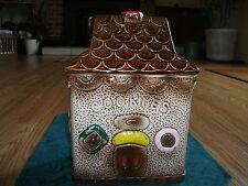 Vintage Gingerbread House Ceramic Cookie Jar Japan