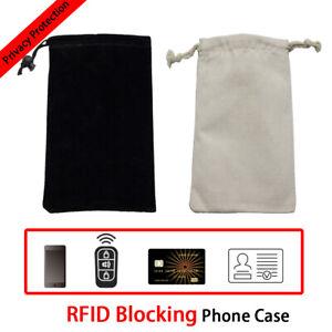 RFID Phone Case Signal Blocking Bag GPS Shield Cage Pouch Wallet Faraday Bag EMF