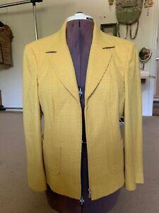 Conrad C Collection Yellow Blazer Jacket Size 14