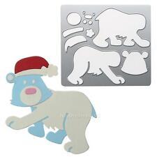 Christmas Bear Metal Cutting Die Stencil DIY Scrapbooking Album Paper Card Craft