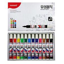 Monami Permanent Marker Oil-Based 12 Colors 1 Set 2.0mm