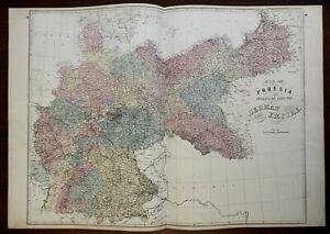 Map wurttemberg 1800 germany Schanbach, Esslingen,