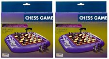 Lot of 2 Chess Game, 9x5.5in Plastic, Portable Compact & Fun!
