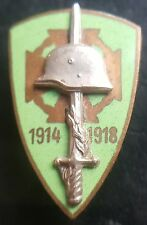 ✚7560✚ Hungary Hungarian National Front-Line Fighters' Association Badge WW2