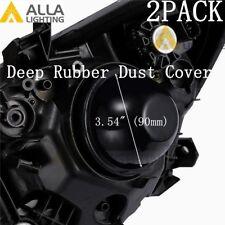 LED High Low Beam Headlight Bulb Fog Light Dust Seal Lamp Cover Housing Cap 3.54