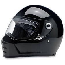 Biltwell Gloss Black Solid Lane Splitter Adult XX-Large 2XL Helmet LSBLKGLECEXXL