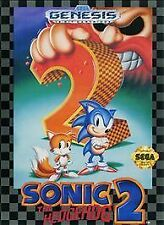 SONIC THE HEDGEHOG 2 TWO not for resale SEGA GENESIS GAME SYSTEM NES HQ