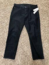 Hudson Mens Jeans 36 Blake Slim Straight Dark Wash BETB New $198 Button Fly