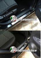 Battitacco scritta per Qashqai Nissan Acciaio Satinato protezione soglia entrata