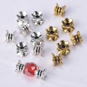 50pcs 7x5mm Antique Gold / Tibetan Silver Loose Zinc Alloy Metal Spacer Beads