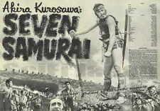 Seven Samurai Movie Poster 11x17 E Toshiro Mifune Takashi Shimura Yoshio Inaba