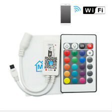 Smart WiFi Controller with 24 Key IR Remote for 3528 5050 RGB LED Strip Lights