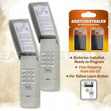 2 For LiftMaster 877Lm Wireless Garage Door Keyless Entry Keypad Yellow Learn