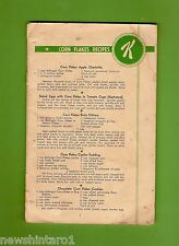 #D153. EARLY BOOKLET ON KELLOGG CORN FLAKE etc RECIPES