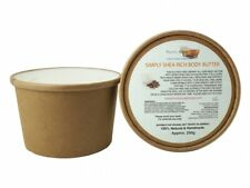 Simply Shea Rich Body Butter, Kraft Tub of 250g, Natural & Handmade,Plastic Free