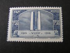 FRANCE, SCOTT # 312,1936 HISTORICAL EVENTS CANADIAN WAR MEMORIALISSUE MH