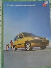 Citroen Berlingo Multispace range brochure Jan 2002