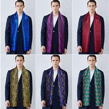 Mens Womens Scarf Unisex Designer Scarves Silk Paisley Blue Red Shawl Wrap