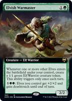Elvish Warmaster - Foil - Extended Art x1 Magic the Gathering 1x Kaldheim mtg ca