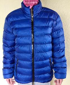 Glanznylon,winterjacke,Steppjacke,Anorak Blau 3XL