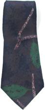 NEW BILL ROBIN SON 100% Silk Purple & Bright Green Pink Abstract Short Tie