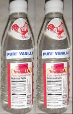 Clear Danncy Pure Mexican Vanilla Extract 12oz Ea 2 Plastic Bottles From Mexico