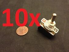 "10 Pieces On/Off 2 SPST Metal Handle Toggle Switch AC 125v 4A dc 1/2"" hole c15"