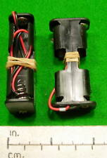 Battery holder - 2 x AA cell - side by side - wired