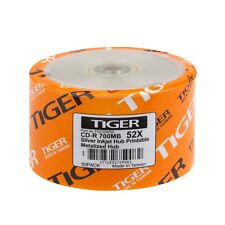 600-PK 52X Tiger Brand Silver Inkjet Hub Printable Blank CD-R CDR Disc 700MB