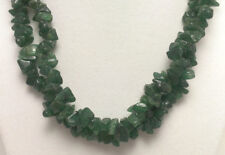 """*Authentic* Aventurine Chip Bead Crystal 34"""" Necklace #63"""